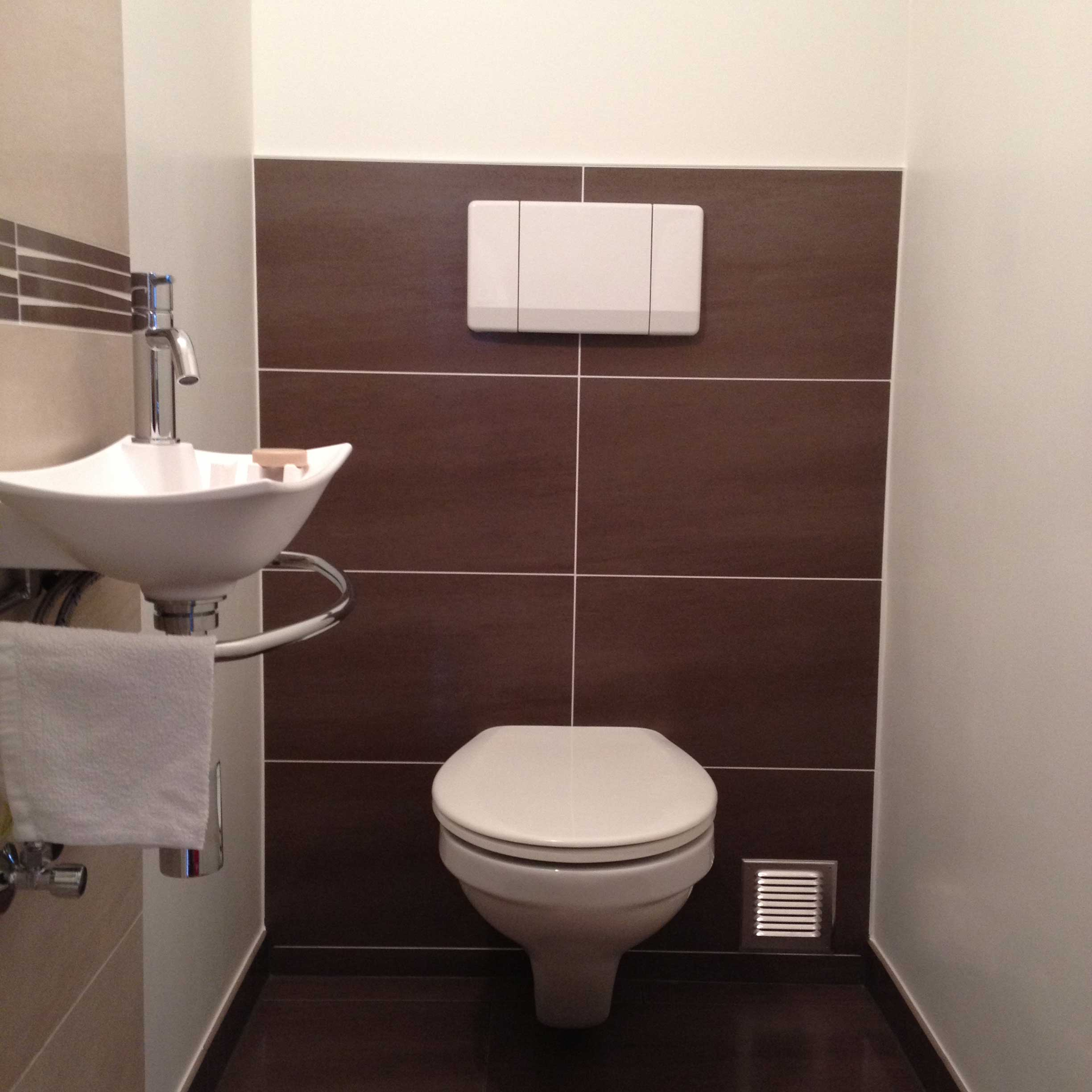 carrelage salle de bain beige marron » Photos de design d ...